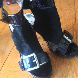Michael Kors Black heels- leather upper size 7